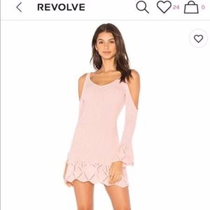 Lovers & Friends REVOLVE Dress in Pink & Blush XXS